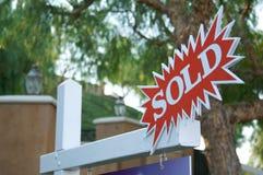 Het verkochte Teken van de Uitbarsting Stock Fotografie