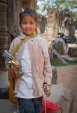 Het verkopen trinkets bij de tempel Royalty-vrije Stock Afbeelding