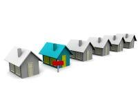 Het verkopen van een huis. royalty-vrije illustratie