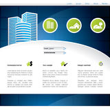 Het verkopen van het huis websiteontwerp Stock Foto's