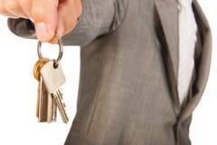 Het verkopen van of het kopen van een huis Stock Afbeelding