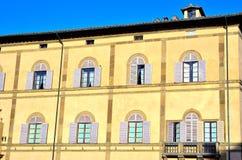 Het verkort tekenen in Siena Stock Foto's