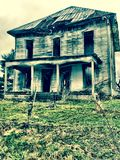 Het verlaten huis Royalty-vrije Stock Foto's