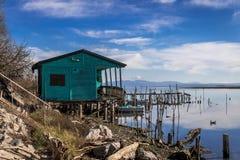 Het verlaten huis van de visser Stock Fotografie