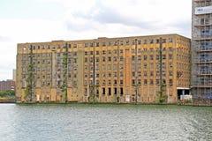 Het verlaten pakhuis van Londen Royalty-vrije Stock Foto's
