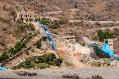 Het verlaten pretpark in de bergen dichtbij Taif, Saudi-Arabië stock afbeelding