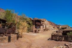 Het verlaten spookstadcalico, Californië, Verenigde Staten, richtte nu op in 1881, een park van de provincie Royalty-vrije Stock Afbeeldingen