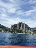 Het verlaten van Eiland Capri Stock Foto