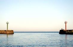 Het verlaten van haven. royalty-vrije stock afbeelding