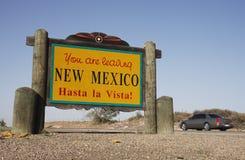 Het verlaten van het Teken van New Mexico Royalty-vrije Stock Foto's