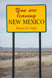 Het verlaten van het Teken van New Mexico Stock Afbeeldingen