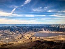 het verlaten van Meer Tahoe Nevada en Californië Stock Foto