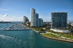 Het verlaten van Miami, Florida Stock Foto's