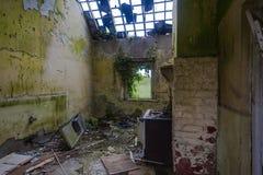 Het verlaten Vernietigde Huis van de Keuken Royalty-vrije Stock Afbeelding