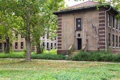Het verlaten Ziekenhuis Ellis Island Stock Afbeeldingen