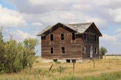 Het verlaten Ziekenhuis in Robsart Saskatchewan Stock Foto's