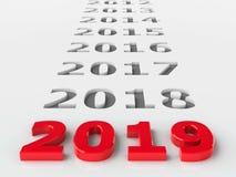 het verleden van 2019 Royalty-vrije Stock Afbeelding
