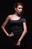 Het verleidelijke Kaukasische model stellen Stock Fotografie