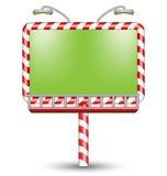 Het verlichte aanplakbord van het suikergoedriet op wit Stock Fotografie