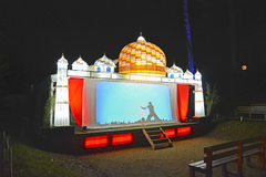 Het verlichte Stadium toont bij Nacht Royalty-vrije Stock Foto