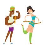 Het verlies van het de mensengewicht van de schoonheidsgeschiktheid stock illustratie