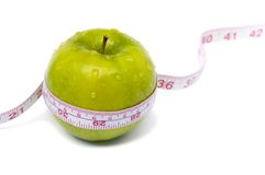 Het verlies van het gewicht en het gezonde op dieet zijn Royalty-vrije Stock Foto