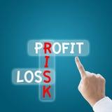 Het verlies van het winstrisico Stock Fotografie