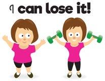 Het verliezende gewicht van de vrouw Stock Foto's