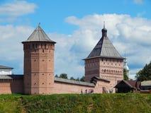Het Verlosserklooster van St Euthymius in Suzdal in Rusland Stock Foto