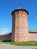 Het Verlosserklooster van St Euthymius in Suzdal in Rusland Royalty-vrije Stock Afbeeldingen