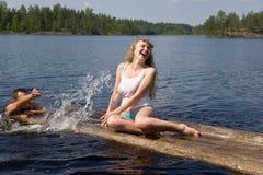 Het vermaak van het water Stock Fotografie