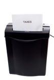 Het verminderen van Belastingen Stock Foto's
