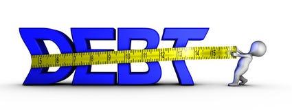 Het verminderen van schuld Stock Afbeelding