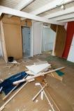 Het vernietigen van een huis Stock Foto's