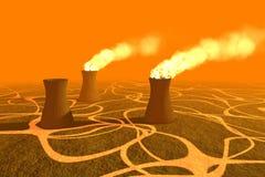 Het vernietigen van het milieu. Stock Illustratie