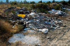 Het vernietigen van het milieu stock afbeeldingen
