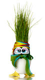 Het vernieuwbare Paasei van het Gras Stock Foto