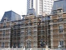 Het vernieuwen van een historisch gebouw stock fotografie