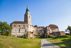 Het veronderstellen van kasteel, Burgenland stock foto's