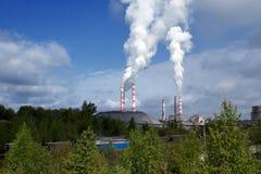 Het verontreinigen van de lucht Stock Foto