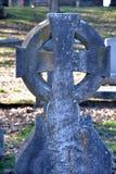 Het verouderen Keltisch kruis Stock Afbeeldingen