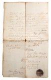 Het verouderen van manuscript royalty-vrije stock foto