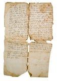 Het verouderen van manuscript op Slavische taal stock afbeeldingen