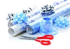 Het verpakkende document van Kerstmis broodjes Royalty-vrije Stock Afbeelding