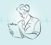 Het verpleegstersaangeven Stock Foto's