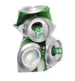Het verpletterde bier kan royalty-vrije stock fotografie