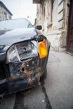 Het verpletterde detail van de autokoplamp stock foto's