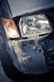 Het verpletterde detail van de autokoplamp royalty-vrije stock afbeeldingen