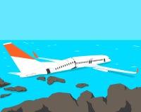 Het verpletterde vliegtuig Stock Foto