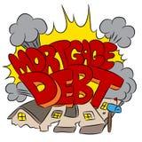 Het verpletteren Hypotheekschuld Royalty-vrije Stock Fotografie